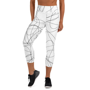 Scribbles Yoga Capri Leggings