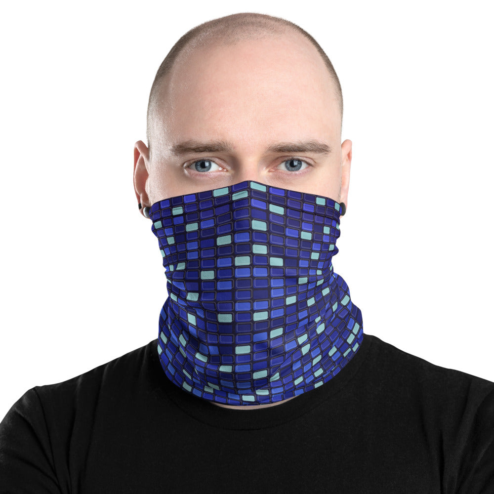 Digital Blue Neck Gaiter