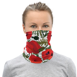 Red Poppy Neck Gaiter