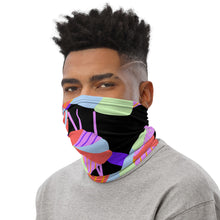 Load image into Gallery viewer, Multi Flower Black Neck Gaiter