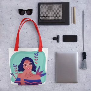 Smart Girl in Her Summer Thoughts Tote Bag Series