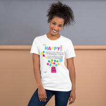 Load image into Gallery viewer, Happy Quarantine Birthday White Short-Sleeve Unisex T-Shirt