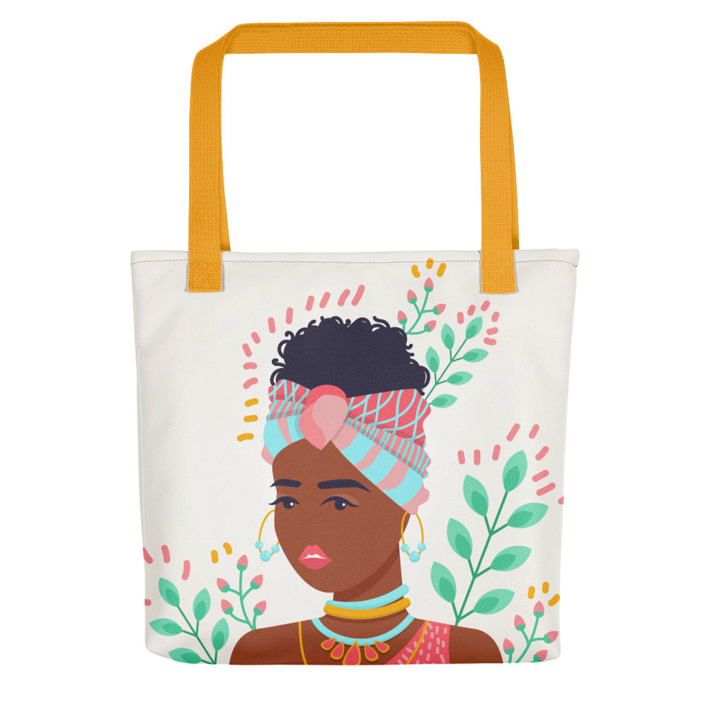 Brave Girl in Her Summer Thoughts Tote Bag Series