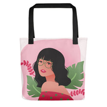 Load image into Gallery viewer, Carefree Girl in Her Summer Thoughts Tote Bag Series