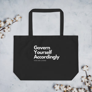 Govern Yourself Large organic tote bag