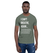 Load image into Gallery viewer, I Can't Breathe BLM Unisex Civil Rights Freedom T- Shirt Black