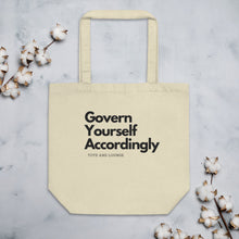 Load image into Gallery viewer, Govern Yourself Medium Eco Tote Bag