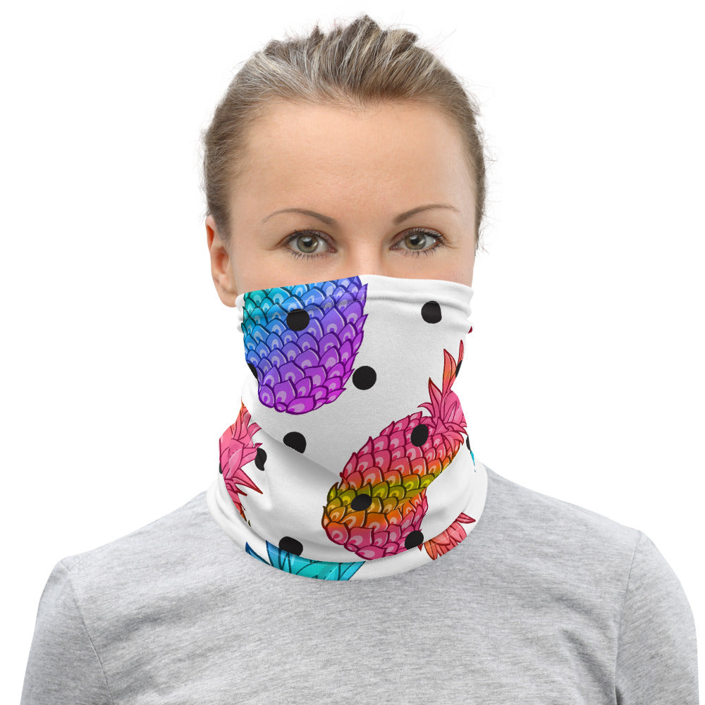 Pineapple Poka Neck Gaiter