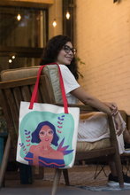 Load image into Gallery viewer, Smart Girl in Her Summer Thoughts Tote Bag Series