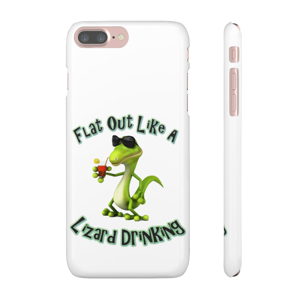 Lizard Drinking Snap Cases Phone Case