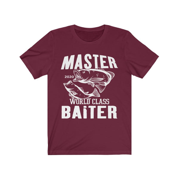 Master Baiter Cotton T-Shirt Unisex Jersey Short Sleeve Tee