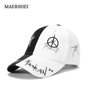 MAERSHEI Unisex Cotton Baseball Cap Graffiti Snapback Sports Hats Men Women.