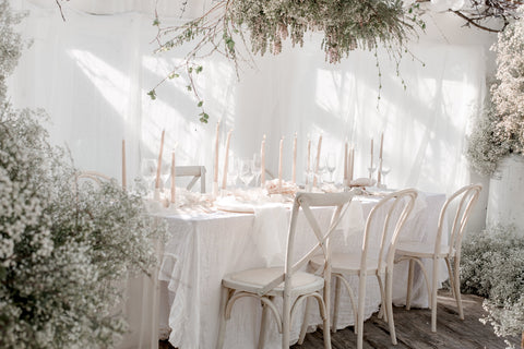 linen wedding table