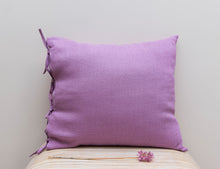 Load image into Gallery viewer, Deep Rose Pillowcase with Ties from Natural Softened Linen - Linen Couture Boutique