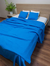 Load image into Gallery viewer, Sky Blue Linen Bedding Set - Linen Couture
