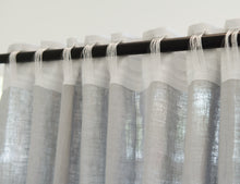 Load image into Gallery viewer, Light Grey Linen Curtain & Drape with multi-functional heading tape - Linen Couture