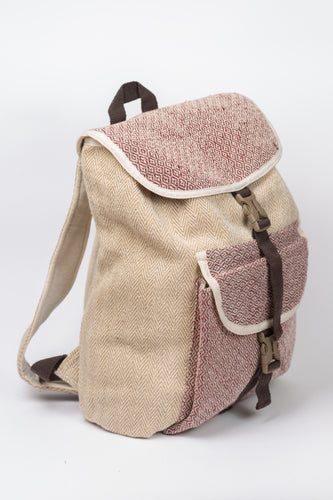 Himalayan bagpack from natural hemp - Linen Couture Boutique