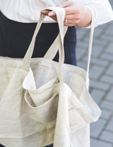 Linen beach bag - Linen Couture Boutique