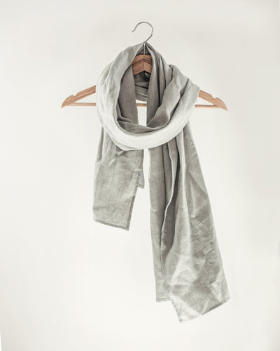 Light Grey Linen Scarves & Wraps - Linen Couture Boutique