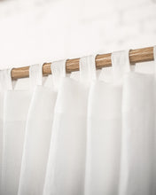 Load image into Gallery viewer, White Tab Top Linen Curtain & Drape - Linen Couture
