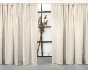 Grey Natural Linen Rod Pocket Curtain & Linen Drape You'll Love in 2021 - Linen Couture