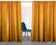 Mustard Linen Curtain & Drape with multi-functional heading tape