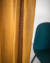 Load image into Gallery viewer, Mustard Linen Curtain & Drape with multi-functional heading tape - Linen Couture