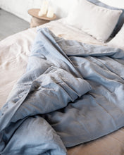Load image into Gallery viewer, Ice Blue Linen Bedding Set - Linen Couture Boutique