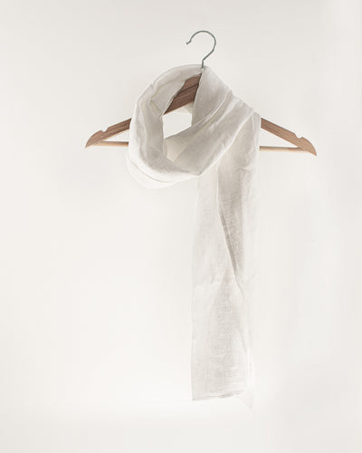 Snow White Linen Scarves & Wraps - Linen Couture Boutique