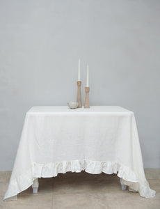 Linen Tablecloth with ruffles - Linen Couture