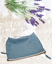Load image into Gallery viewer, Greyish Mint linen pochette - Linen Couture