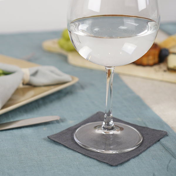 Set of softened linen coasters - Linen Couture Boutique
