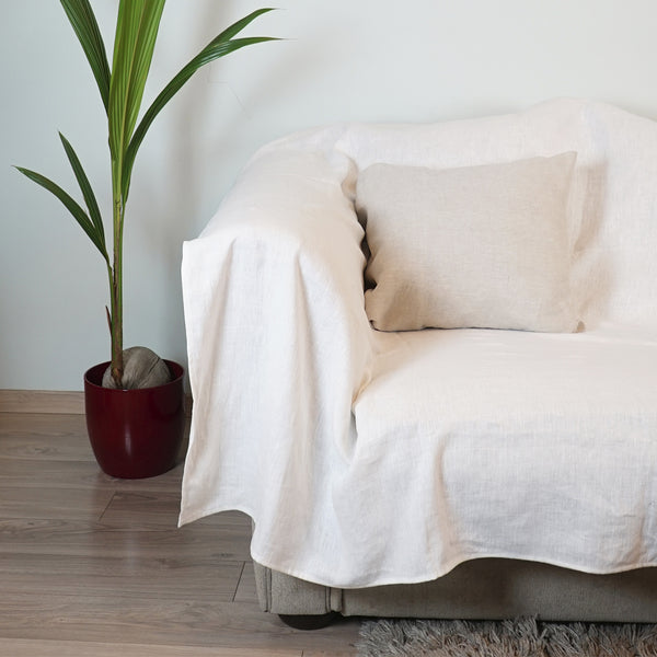 Stylish natural linen slipcover - Linen Couture Boutique