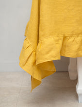 Load image into Gallery viewer, Honey Linen Tablecloth with ruffles - Linen Couture