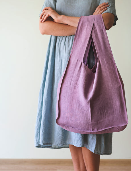 Linen Tote Bag with Inside Pocket - Linen Couture Boutique