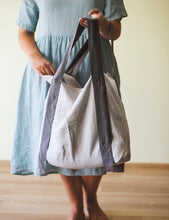 Load image into Gallery viewer, Linen Bag with Contrast Details - Linen Couture Boutique