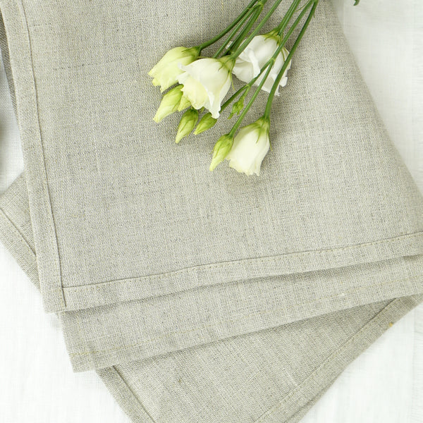 Set of handcrafted linen napkins