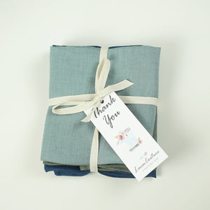Set of linen napkins with tassels - Linen Couture Boutique