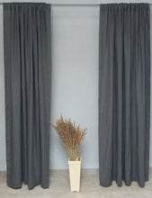 Load image into Gallery viewer, Grey Natural Linen Rod Pocket Curtain & Linen Drape You'll Love in 2021 - Linen Couture