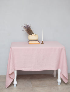 Pale Pink Linen Tablecloth - Linen Couture
