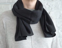 Load image into Gallery viewer, Black Linen Scarves & Wraps - Linen Couture