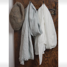 Load image into Gallery viewer, Snow White Linen Scarves & Wraps - Linen Couture