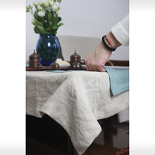 Load image into Gallery viewer, Natural Linen Tablecloth - Linen Couture Boutique