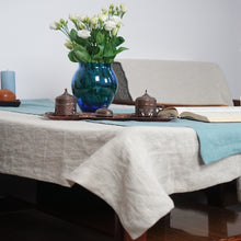 Load image into Gallery viewer, Natural Linen Tablecloth - Linen Couture