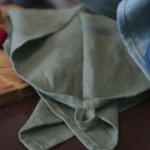 Elegant linen tea towel - Linen Couture