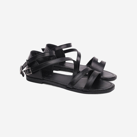 Strong Girl Black Sandals