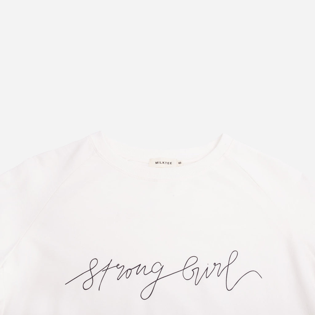 White Strong Girl Sweatshirt