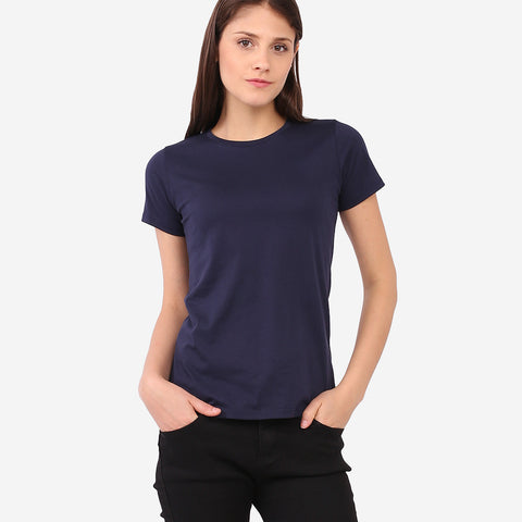 Dark Blue Basic Tee