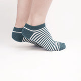 Green and Brown Striped Ankle Socks (2 Pairs)