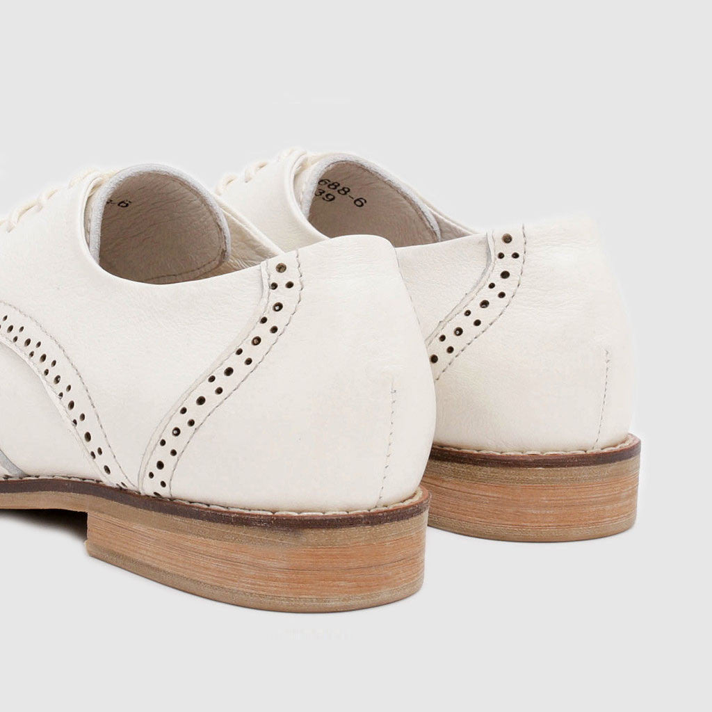 Women's Oxford in White Leather